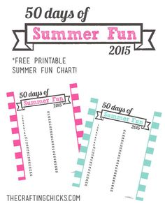2015 Summer Fun Chart and Free Printable - I love this chart! And the great summer ideas on this post!