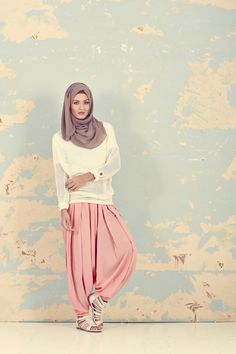 Inayah - hijab dresses abaya. Like the pants. The hairpiece no, but style heck yay think genie.