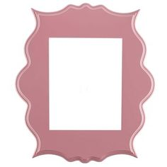 """Give your photographs some sweet girliness with 8"""" x 10"""" Ornate Pink Beverly Open Frame. This frame features an ornate shape in a soft pink that is perfect for a girl's room. Exercise your creative freedom by choosing a back, hanging hardware, and glass to create a stunning complete frame!        Dimensions:    Frame:      Length: 17""""    Width: 15""""    Thickness: 5/8""""          Photo Opening:      Length: 10""""    Width: ..."""