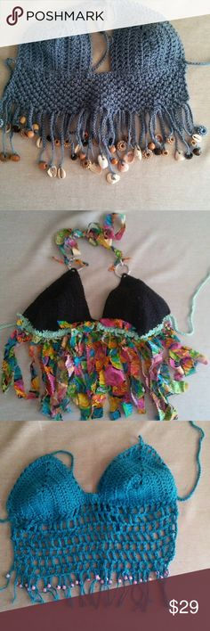 Bikini tops Handcrafted one of a kind bikini designer top Floridian made. With my designer tag Swim Bikinis