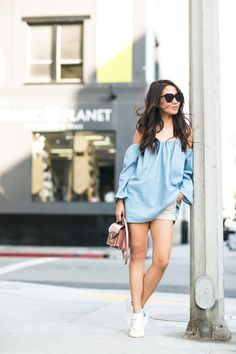 Top :: MLM Label Bottom :: Armani Exchange  Bag :: Louis Vuitton  Shoes :: Isabel Marant  Accessories :: Karen Walker sunglasses.