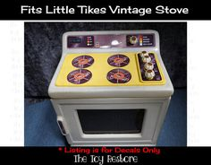 New Replacement Decals Stickers fits Little Tikes Vtg Stove Updated Stainless St Kids Play Kitchen, Toy Kitchen, Kitchen Decals, I Just Need You, Vintage Stoves, Little Tikes, Home Printers, Vintage Kitchen, Kids Playing