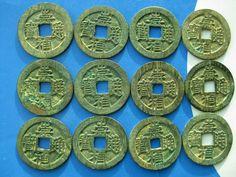 Tomcoins-China Ming dynasty  ChongZhen Tung Bao cash coin dot on rev 26mm
