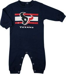 Houston Texans Newborn Navy Long Sleeve Coverall  Size: 6-9mos  $24.99