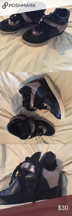Sneaker wedges  Fabulous condition! So cute size 7, ask any questions! Make me an offer  Soda Shoes Sneakers