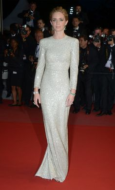 Emily Blunt in Stella McCartney. See all the best looks from the 2015 Cannes Film Festival.