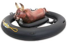 Intex Inflatabull Bull-Riding Inflatable Swimming Pool Lake Fun Float at Lowe's. Round up your fellow rodeo clowns and test your bull riding skills on the water with this Intex Giant Inflatabull Pool Float. It's time to channel Inflatable Pool Toys, Giant Inflatable, Inflatable Island, Diy Pool Toys, Inflatable Float, Lake Toys, Cool Pool Floats, Funny Pool Floats, Giant Pool Floats