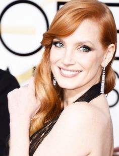 Jessica Chastain at the 72nd Annual Golden Globe Awards