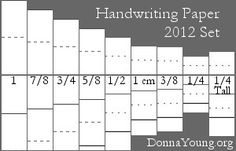 handwriting paper~ all sizes and orientations