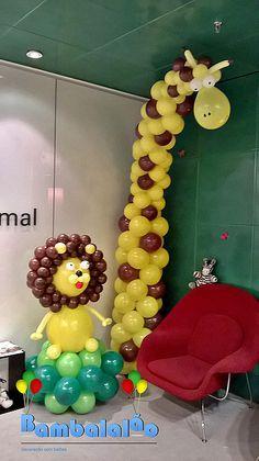 Bambalalão Decoração com balões - Fotos de balões festa infantil
