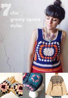 7 Chic Granny Square Styles