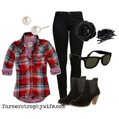 rockabilly western, created by farmerstrophywife on Polyvore