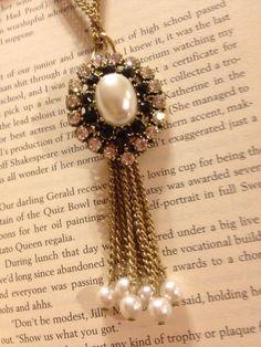 Antique Repurposed Pearl and Rhinestone by AmbivalentRelics, $45.00