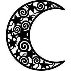 Silhouette Design Store - Search Designs : Moon and stars Silhouette Cameo, Moon Silhouette, Silhouette Design, Ramadan Crafts, Ramadan Decorations, 3d Zeichenstift, Motif Arabesque, Stencils, Cricut Creations