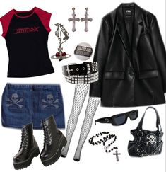 Grunge Outfits, Trendy Outfits, Cool Outfits, Fashion Outfits, Twilight Outfits, Swaggy Outfits, Mein Style, 2000s Fashion, Alternative Outfits