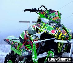 Wrapped and ready Arctic Cat #snowmobiling
