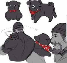 I hope the puppo's name is Death Gun