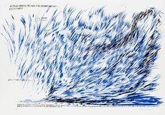 Raymond Pettibon - Untitled (A Sea of Grinding...), Print