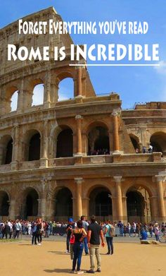 Colosseum, Rome:  http://bbqboy.net/forget-everything-youve-read-rome-incredible/ #rome #italy