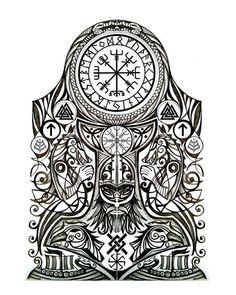 26 vind-ik-leuks, 1 reacties - ABK (@bryank34) op Instagram: 'In definitely thinking of this one on my chest. #tattoo #norsetattoo #norse #viking #ink'