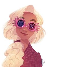 Luna Lovegood by Sarah Conradsen Magia Harry Potter, Harry Potter Drawings, Harry Potter Facts, Harry Potter Fan Art, Harry Potter Universal, Harry Potter Movies, Harry Potter Fandom, Harry Potter World, Luna Lovegood