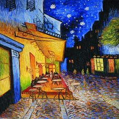 Cafe Terrace At Night by Vincent Van Gogh Wall Canvas Prints Oil Painting Reproductions Street Scenes Landscape Art Picture Cafe Terrace At Night by Vincent Van Gogh Wall Canvas Prints Oil Painting Reproductions Street Scenes Landscape Art Picture Vincent Van Gogh, Art Van, Van Gogh Arte, Van Gogh Pinturas, Images D'art, Aesthetic Painting, Aesthetic Drawing, Aesthetic Dark, Painting Wallpaper