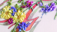 Clusters of flowers with loop stitch how-to