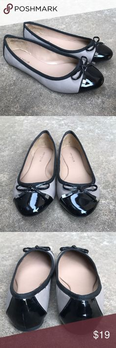 New Ann Taylor Flats New black and gray comfortable cap toe flats size 6M. Ann Taylor Shoes Flats & Loafers
