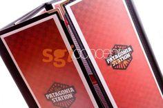 cartas de menú bistro en paneles de PVC esmerialado