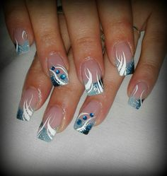 Summer nail art 509117932877024151 - NagelDesign Elegant ( HEIIBLAU ) Source by planetefimo French Tip Acrylic Nails, Gold Acrylic Nails, French Nails, Beautiful Nail Designs, Beautiful Nail Art, Indian Nails, Nail Tip Designs, Nagellack Design, Nails Only