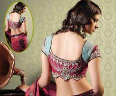 Saree Blouse Designs | Neck Designs and Blouse Back Designs