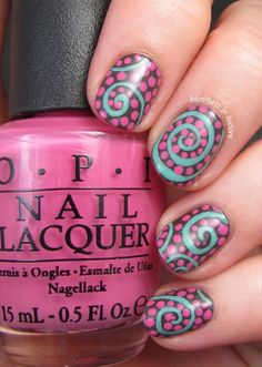 Swirly pop nails