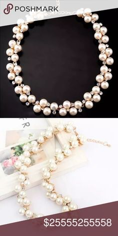 Host pick ‼️crystal pearl bib necklace ❤️️ Its special design will make you look unique It is a good gift for your lover,family,friend and coworkers Condition:Brand New and High Quality Material:Zinc Alloy+Crystal Length:15.74*0.78in Weight:About 50 g Note:As different computers display colors differently, the color of the actual item may vary slightly from the above images. Thanks for your understand. Comment if you have any questions ❤️️ Jewelry Necklaces