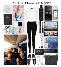"""#371: On the Plane with 5SOS"" by kristina-payne ❤ liked on Polyvore featuring art"