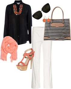 classy coral, created by scott501 on Polyvore