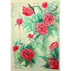 Roses art by Molly B. Sturgell watercolor