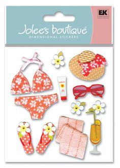 Beach > Bikini 3D Stickers - Jolee's Boutique: Stickers Galore  $4.39