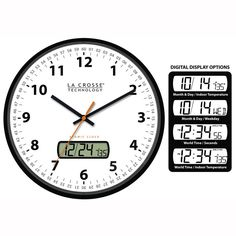 Analog Clock Without Hands furthermore 9586 Large Brushed Chrome Wall Clock further Chasing Time Clock Keeps Changing additionally Sans  C3 A2ge besides Clocks For Kids. on la crosse clocks