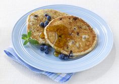 Try These Low-Carb Pancakes Made with Almond Meal: Add fresh or frozen blueberries to these low-carb pancakes for an extra-special treat.