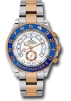 Buy Rolex Yacht-Master II Steel & Rose Gold 116681 Watch on sale! Philippe's Watches of Beverly Hills is a dealer with Authentic, New & used Rolex Watches at discount prices. Rolex Oyster Perpetual, Omega Seamaster, Cool Watches, Rolex Watches, Black Watches, Stylish Watches, Buy Rolex, Pre Owned Rolex, Swiss Army Watches