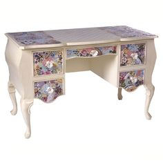 Mosaic Top Five-Drawer Desk from PoshTots