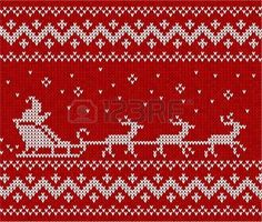 Sweater with Santa and his deers photo