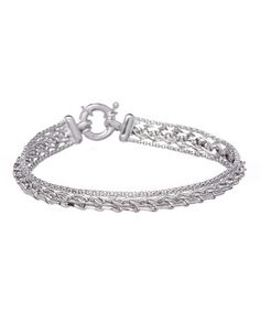 Look what I found on #zulily! Sterling Silver Wheat & Popcorn Chain Bracelet #zulilyfinds