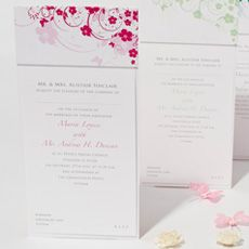 Butterfly Floral Wedding Stationery
