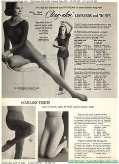 Vintage Stockings, Sheer Tights, Christmas Catalogs, Vintage Ads, Leotards, Fall Winter, Exercise, Bra, Fitness