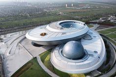 Ennead Architects unveils Shanghai Astronomy Museum. Solar Telescope, Bamboo Structure, New York Studio, New Museum, Immersive Experience, Ground Floor Plan, Little Rock, Main Entrance, Shanghai