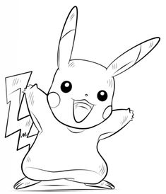 pikachu coloring pages printable and coloring book to print for free. Find more coloring pages online for kids and adults of pikachu coloring pages to print. Drawing Videos For Kids, Drawing Tutorials For Kids, Art Tutorials, Pikachu Drawing, Pokemon Sketch, Pikachu Coloring Page, Pokemon Coloring Pages, Pikachu Pikachu, Cartoon Drawings