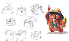 edian: Character design for The Moleys game.
