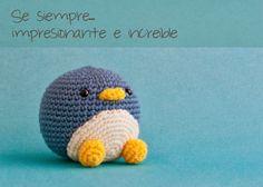 Amigurumi Pingüino Patrón Gratis en Español aquí: http://mispequicosas.blogspot.ch/2014/03/amigurumi-sebastian-pinguino-patron.html