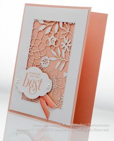 Making Greeting Cards, Greeting Cards Handmade, Card Making Tutorials, Making Ideas, Best Wishes Card, Embossed Cards, Stamping Up Cards, Cut Paper, Get Well Cards